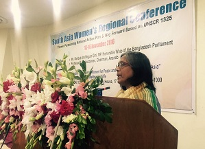 Hon'ble MP Mahbub Ara Begum Gini addressing the event