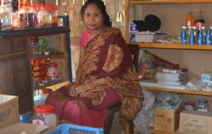 Urmi Chakma at her grocery shop