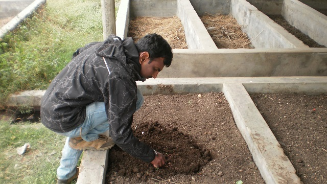 Achintya at his farm